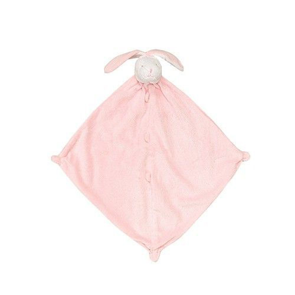 美國 Angel Dear - 動物嬰兒安撫巾-粉紅小兔(白臉)