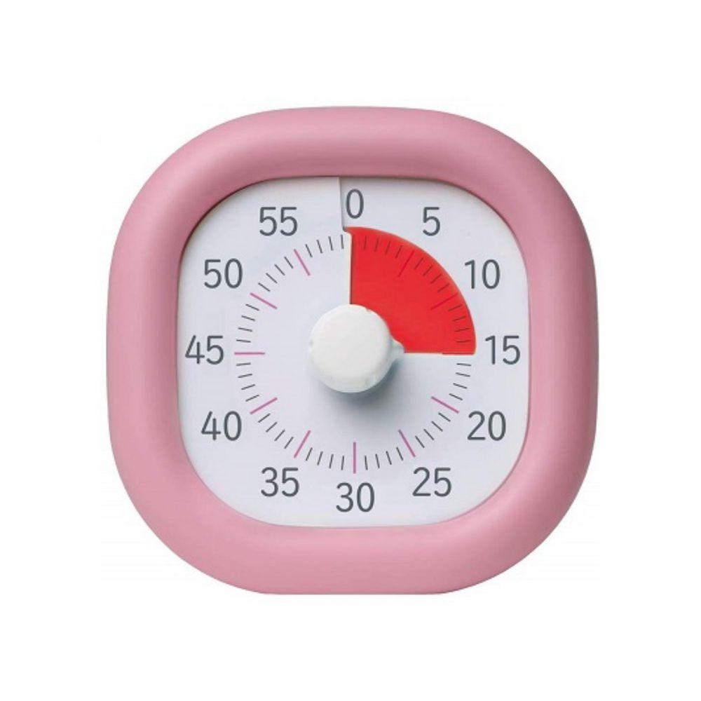 日本文具 SONIC - 時間流逝實感 倒數時鐘/倒數器-60mins版-粉紅 (10cm)