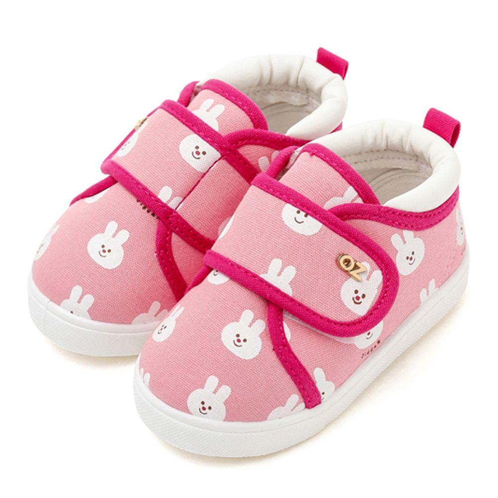 韓國 OZKIZ - 魔鬼氈兒童休閒鞋/室內鞋-兔兔