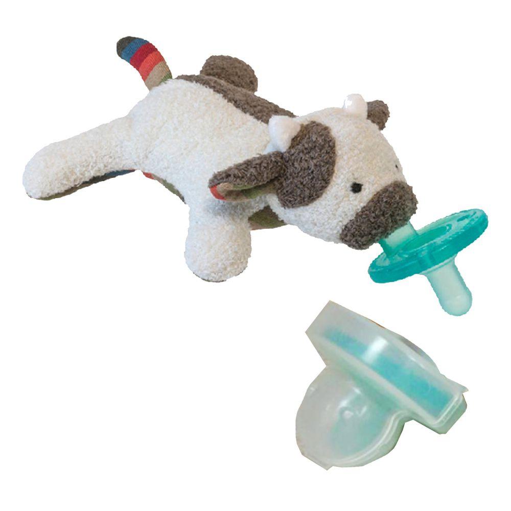 美國 MaryMeyer 蜜兒 - 玩偶安撫奶嘴-收納絕配組-哞哞牛+奶嘴專用盒(透明)