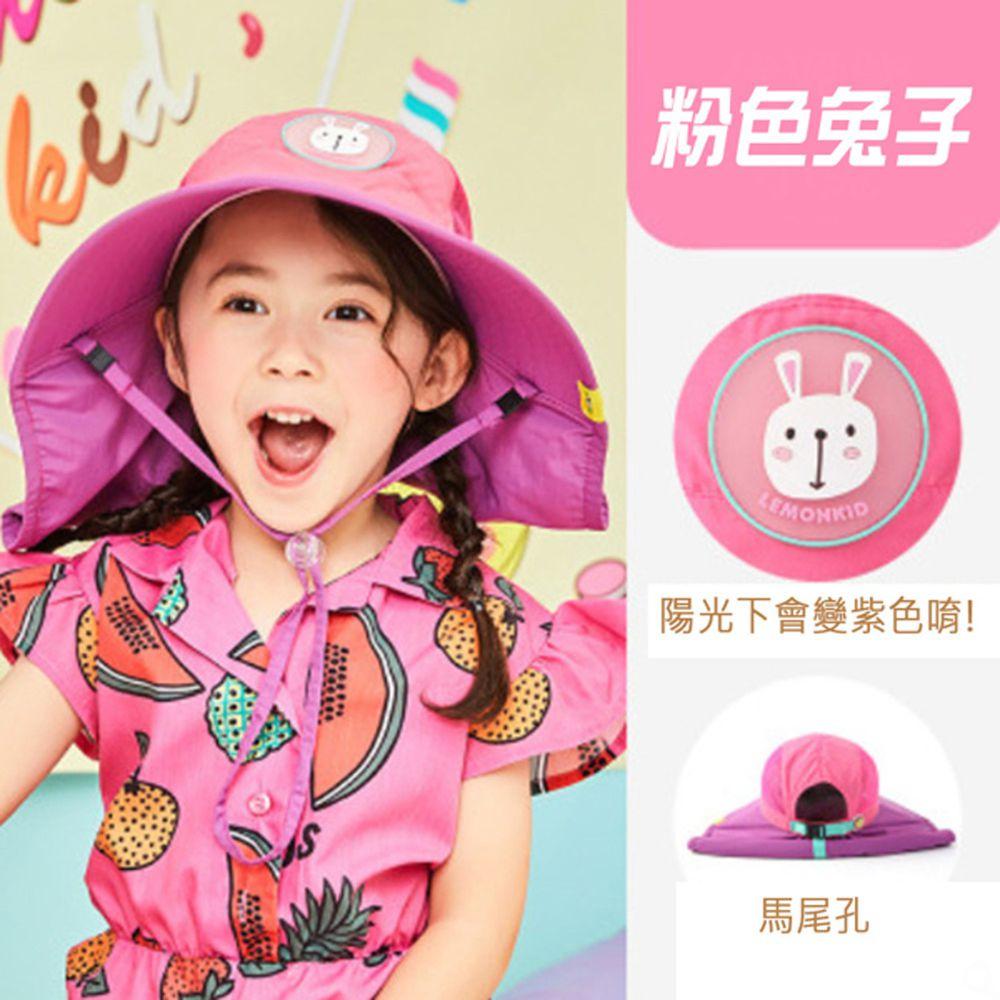 韓國lemonkid - 夏日遮陽帽-粉色兔子