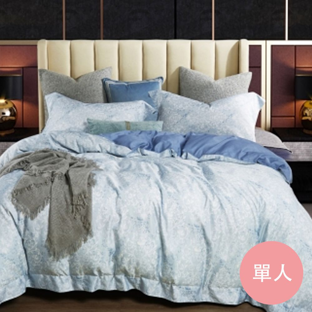 PureOne - 吸濕排汗天絲-立陶宛-單人床包枕套組(含床包*1+枕套*1)