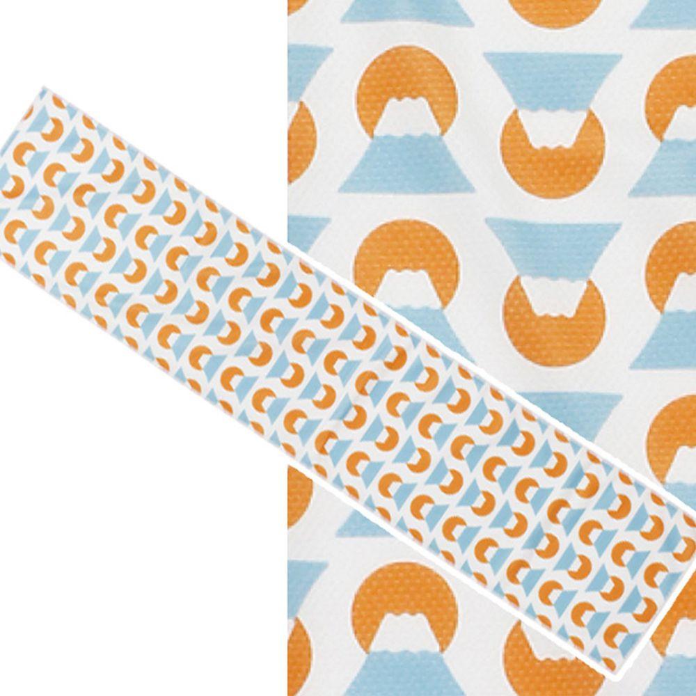 日本丸和 - 和柄小江戶水涼感巾(附收納袋)-富士-藍橘 (20x100cm)