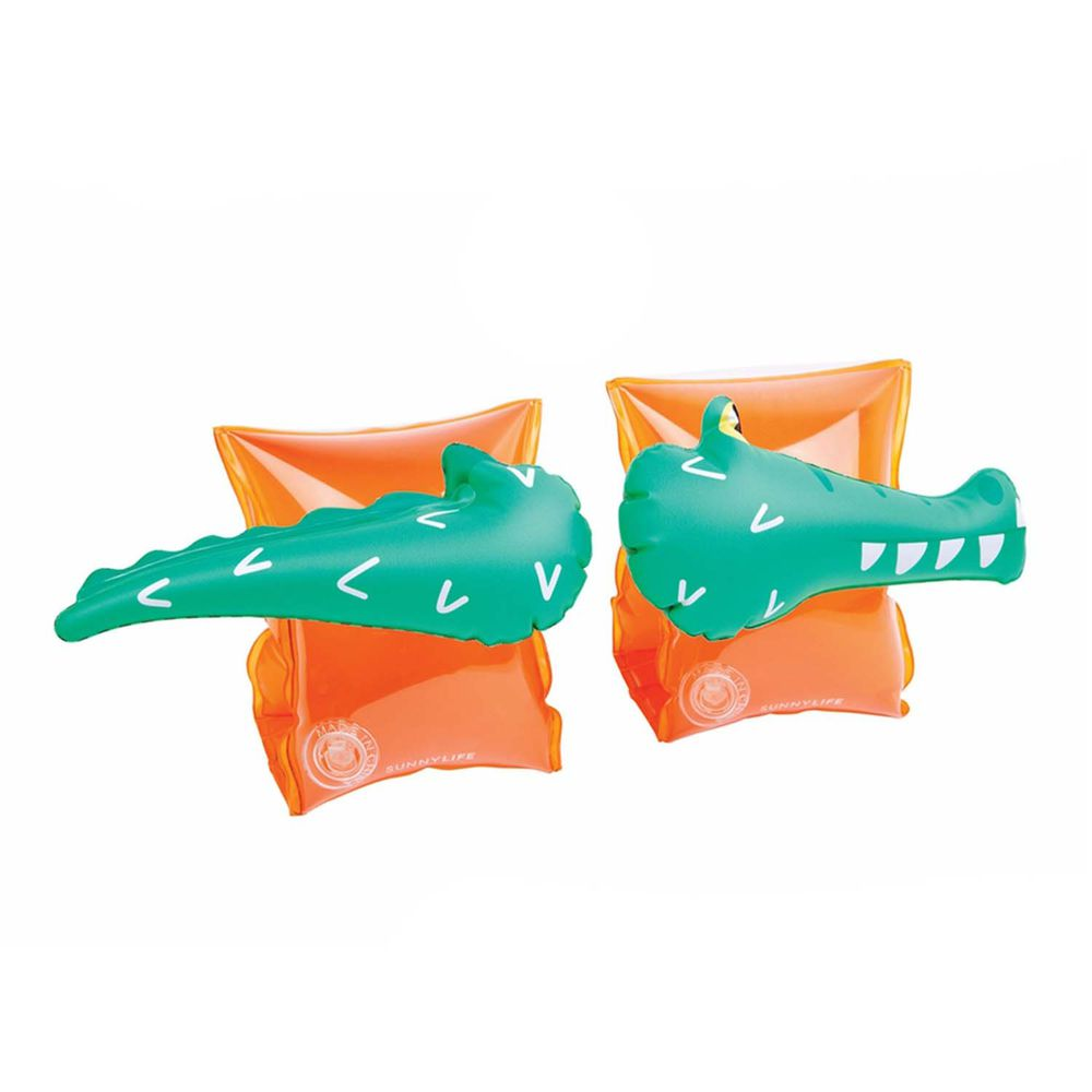 澳洲Sunnylife - 兒童充氣式游泳手臂圈-鱷魚