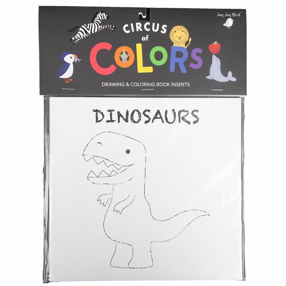 美國Jaq Jaq Bird - 水彩著色補充包-恐龍-(不含粉筆及水彩筆)