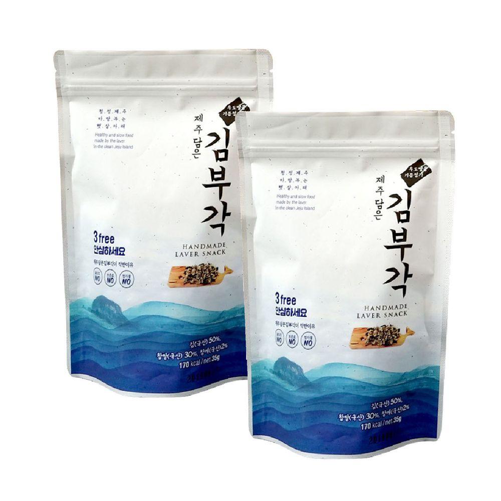 JejuMami 濟州媽咪 - 濟州大海的禮物 純手工海苔捲2入組