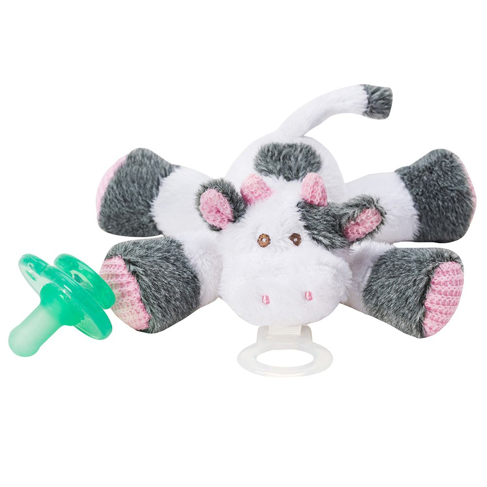 美國 nookums - 寶寶 可愛造型 安撫奶嘴 / 玩偶-乳牛寶寶