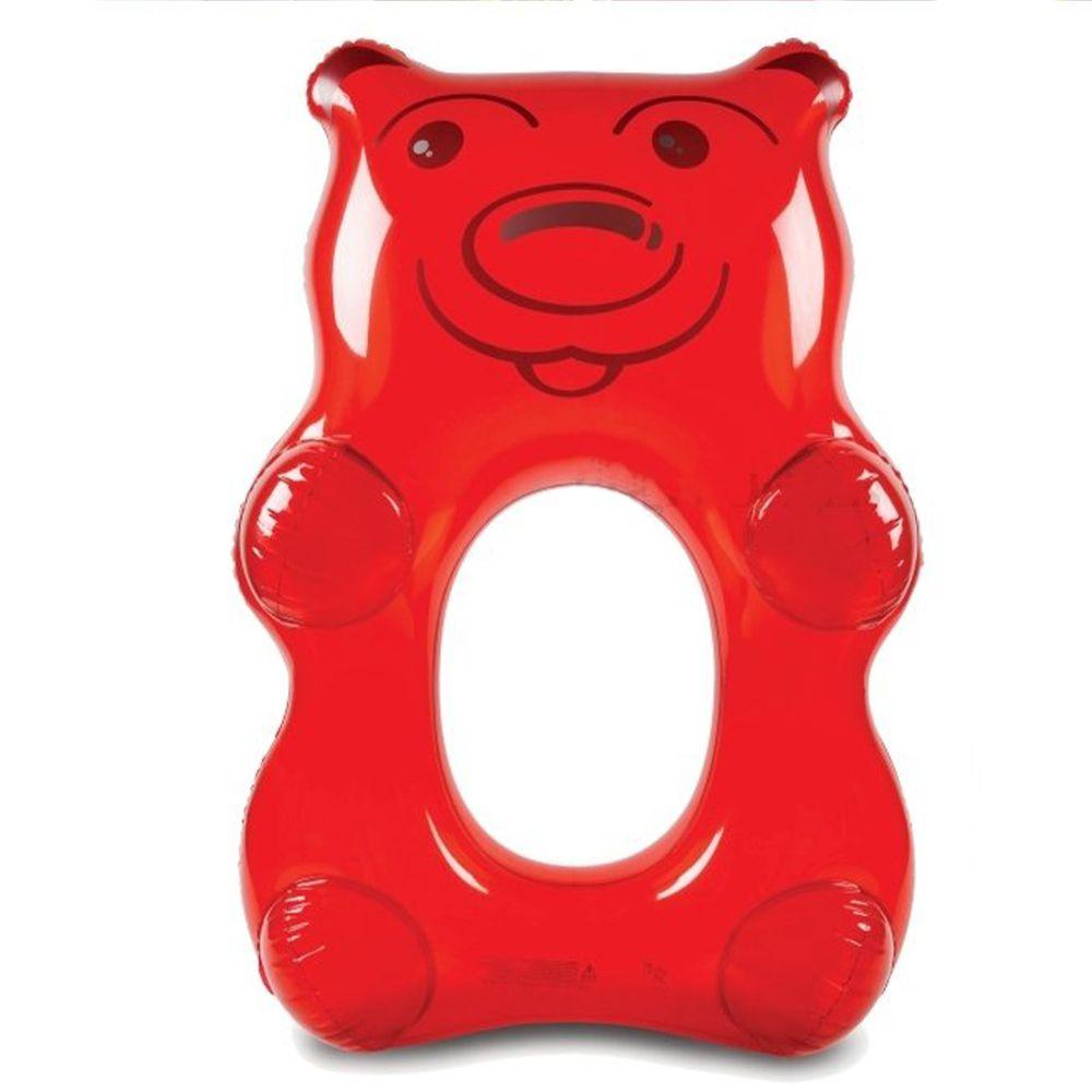 美國 Big Mouth - 造型游泳圈-紅熊熊軟糖