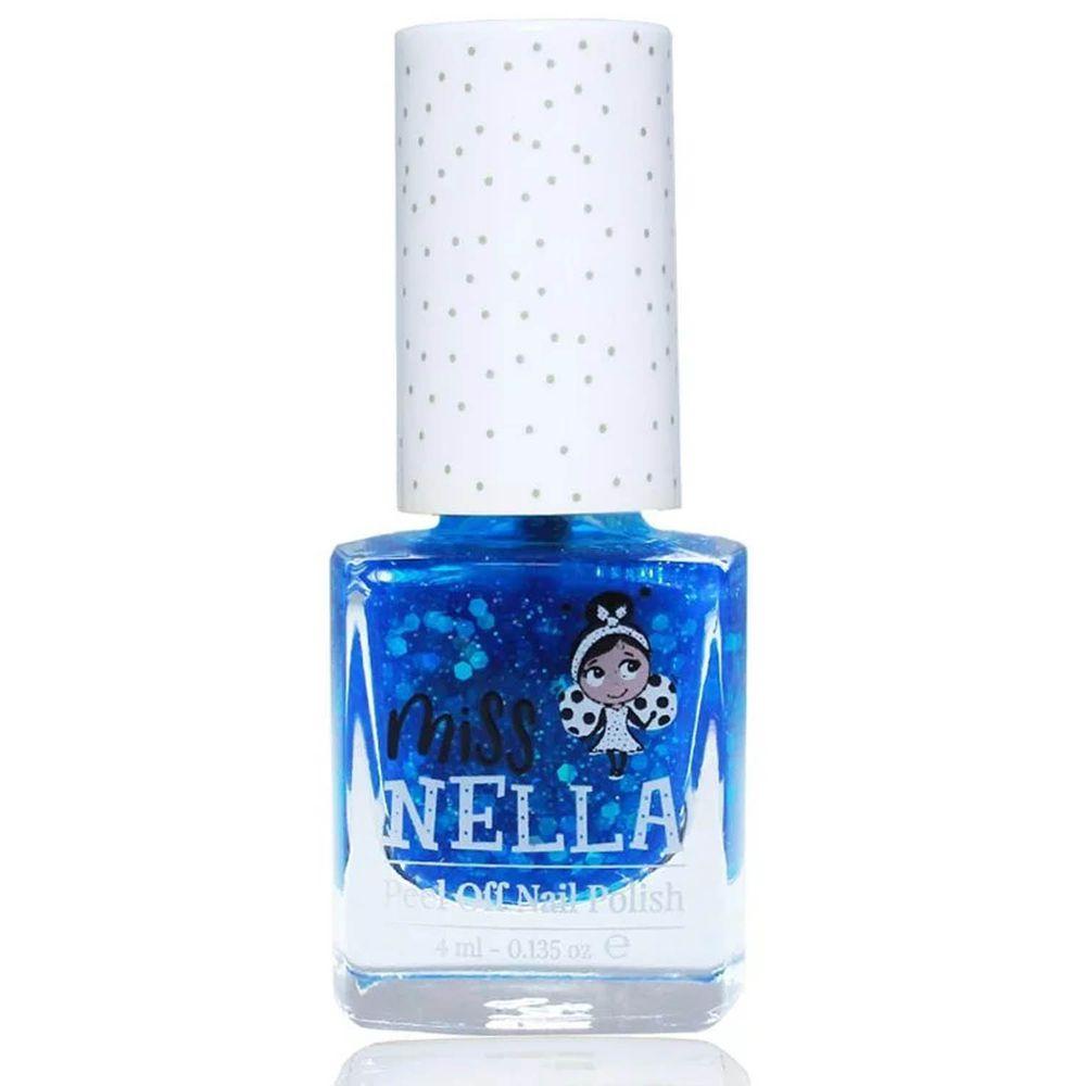 Miss NELLA妮娜小姐 - <2020新版>Miss NELLA 兒童水性可撕式安全指甲油-亮片酷孩深藍MN21-4ml