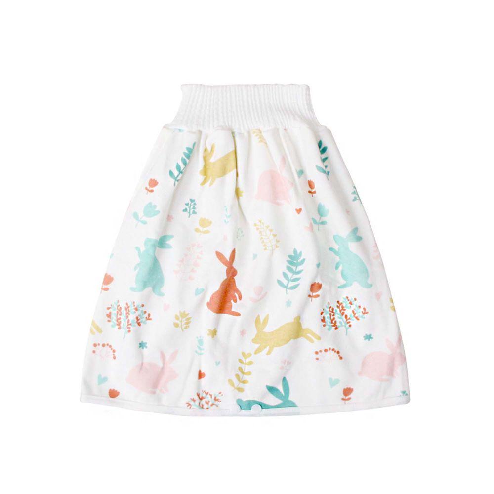 高腰護肚隔尿裙-花花小兔