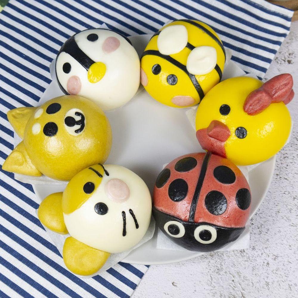 艾酷奇 - 新手嘗鮮組-(6入/盒)-黃雞(紅豆) 蜜蜂(奶黃) 紅瓢蟲(花生) 企鵝(芝麻) 黃金鼠(奶油綠豆沙) 柴犬(地瓜起司)-65g±5%