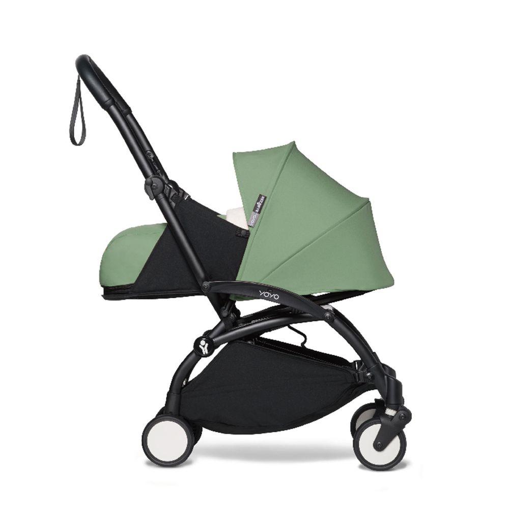 法國BABYZEN YOYO+ - 2020新款秒收可登機手推車含新生兒套件-黑管-綠-0m+