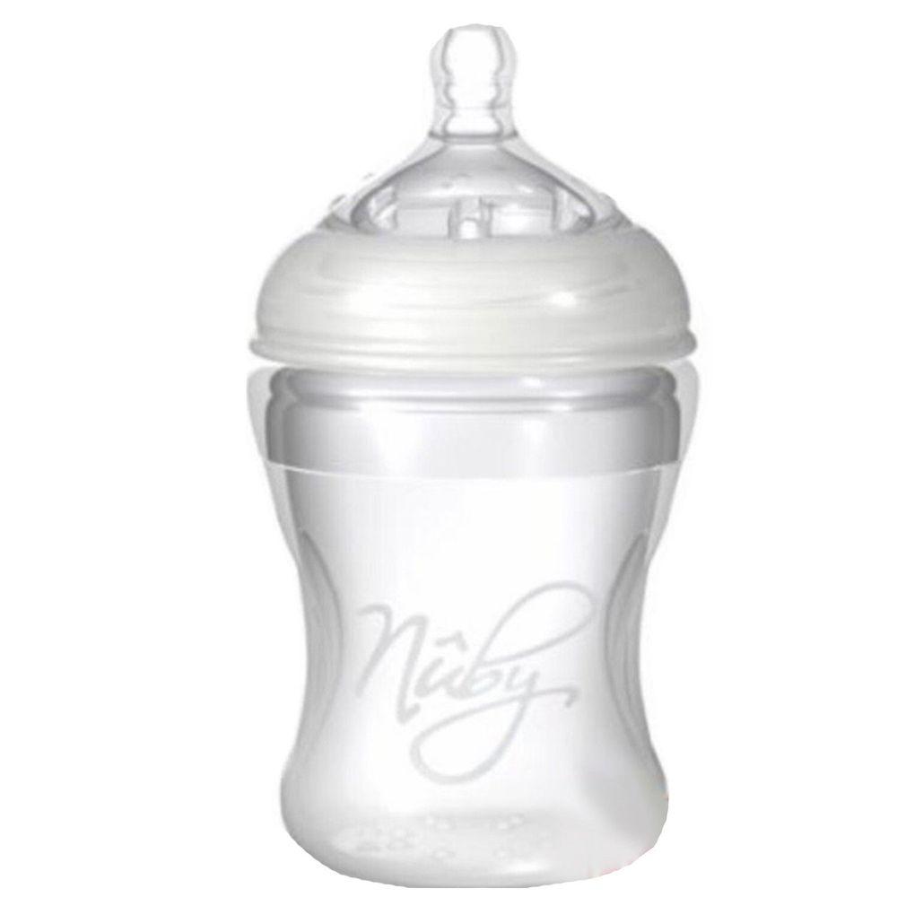 Nuby - 寬口徑防脹氣矽膠奶瓶-150ml