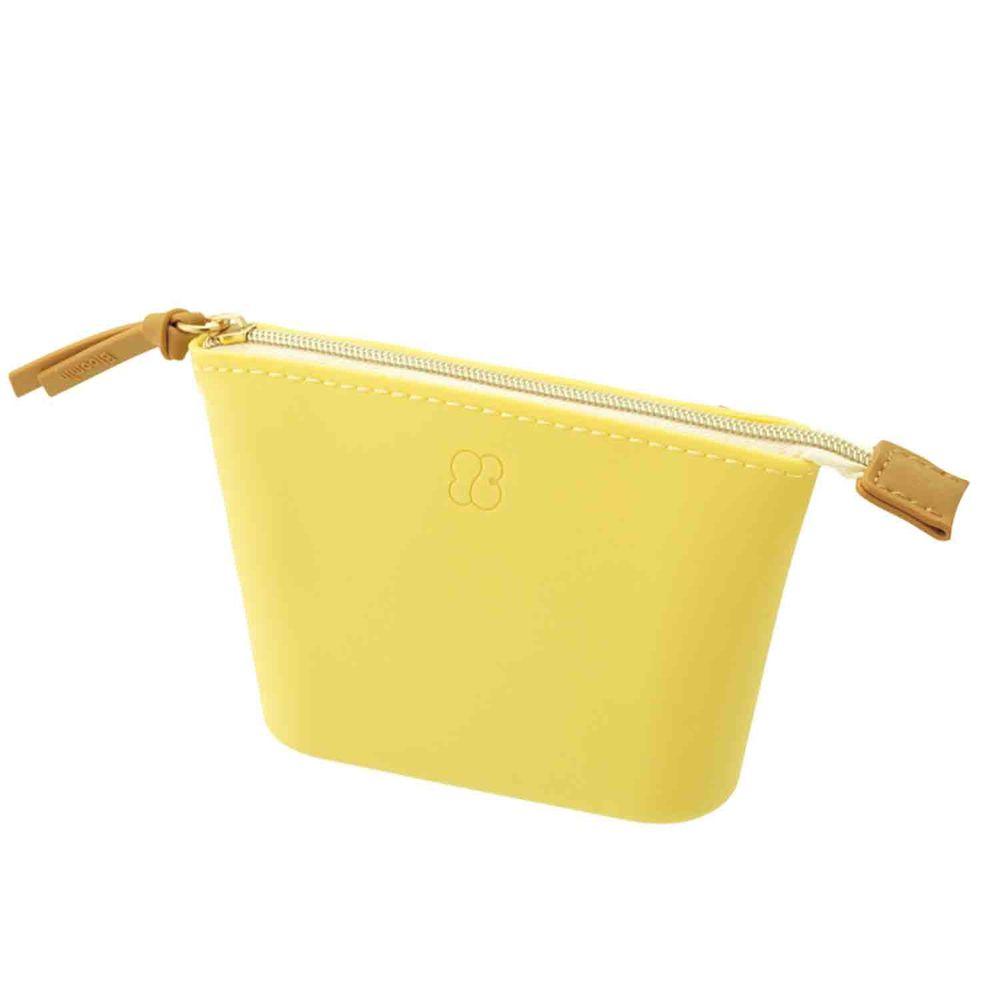 日本文具 LIHIT - 寬口收納袋-檸檬黃 (24x13.3x5.2cm)