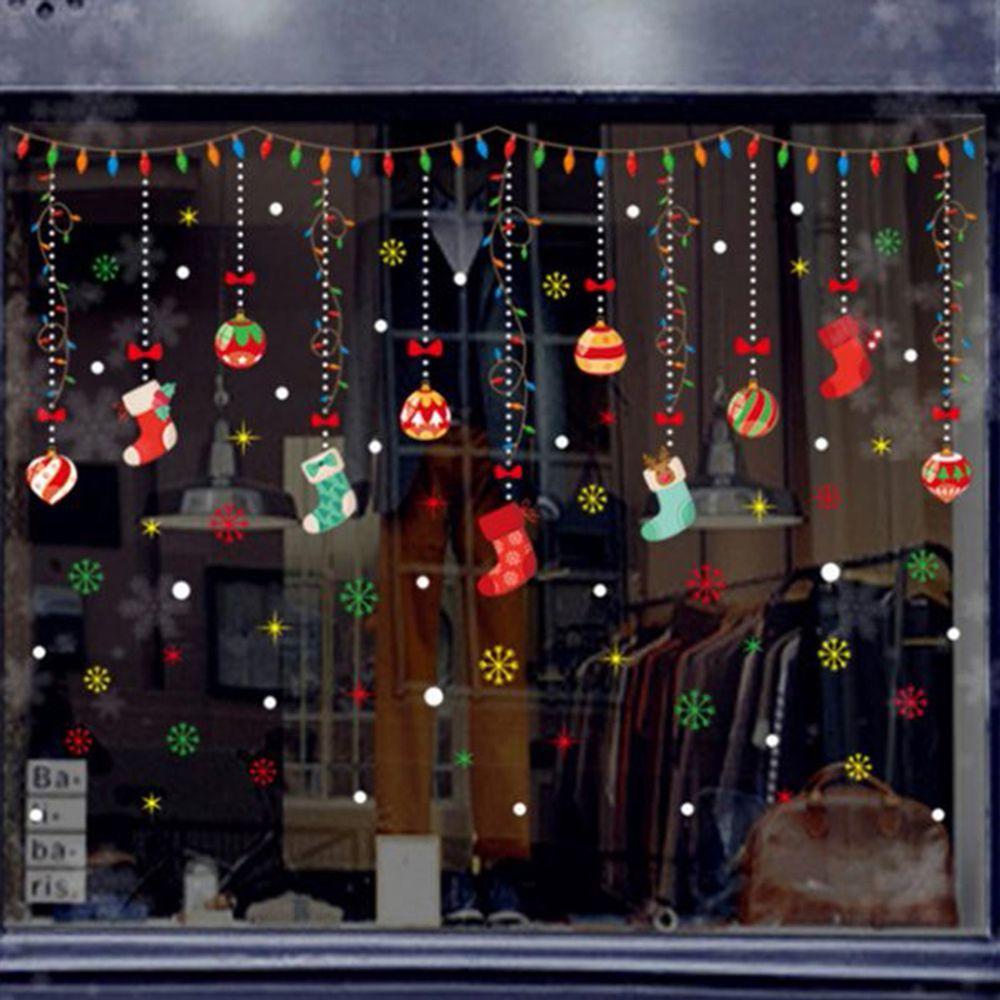 JB Design - 時尚壁貼-聖誕襪掛飾(靜電貼) (70cm*50cm)