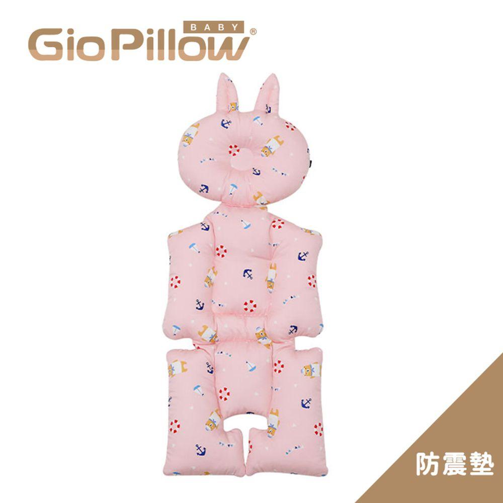 韓國 GIO Pillow - GIO雲感護頭型推車防震墊-水手熊粉