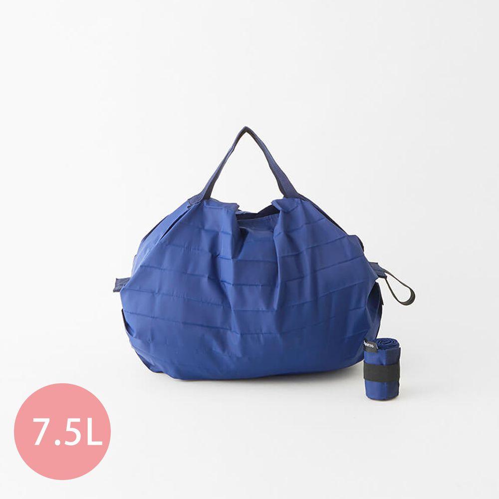 日本 MARNA - Shupatto 秒收摺疊購物袋-五週年限定升級款-沈靜藍 (S(30x26cm))-耐重3kg / 7.5L