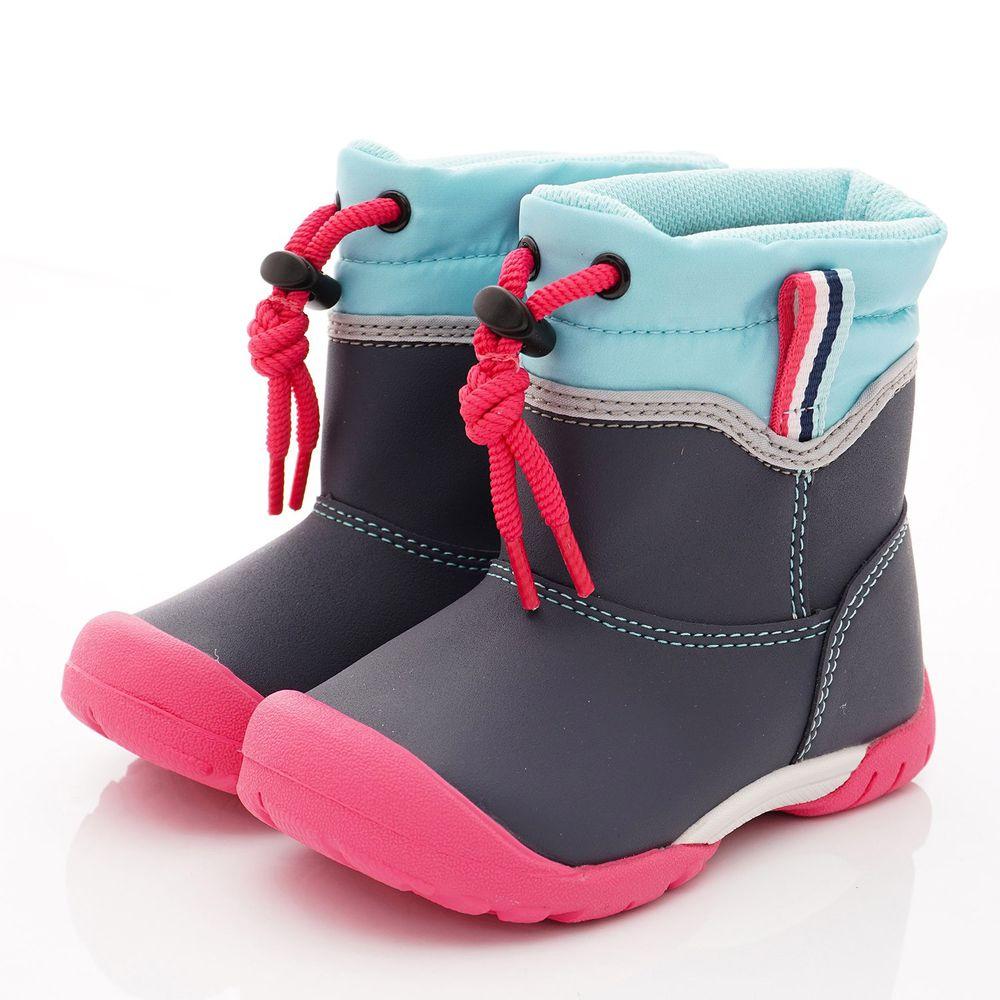 Moonstar日本月星 - 日本月星機能童鞋-2E防水雨靴款(中小童段)-藍綠