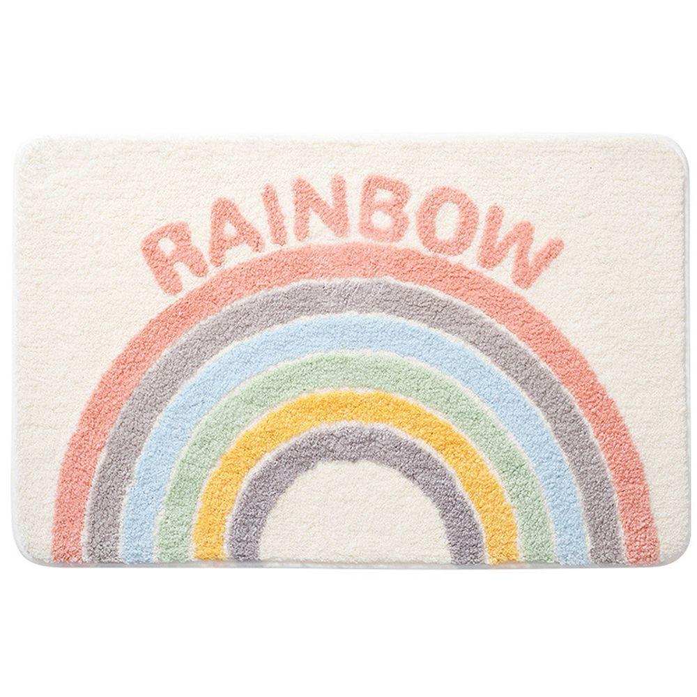 快速吸水植絨浴室腳踏墊-奶油彩虹