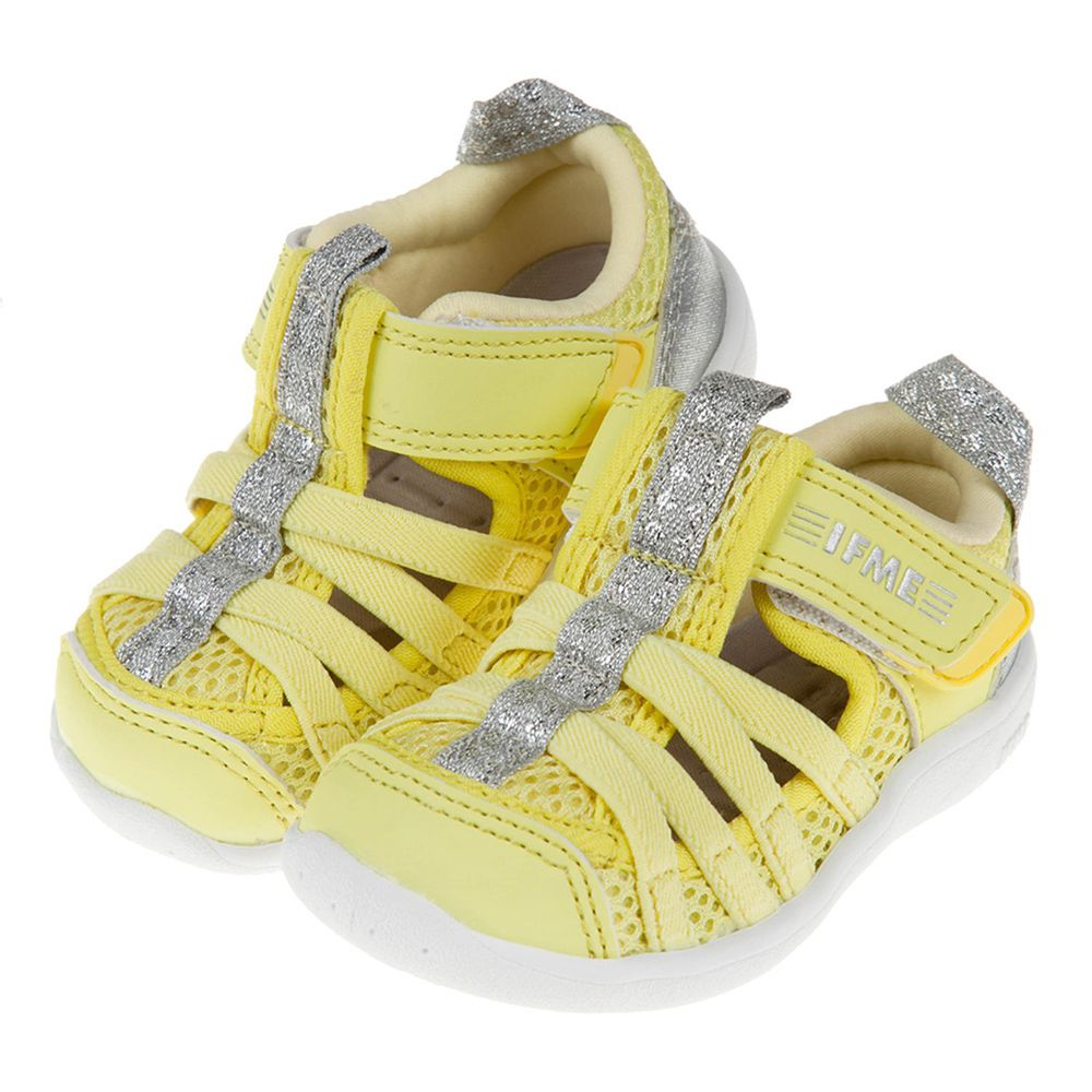 IFME - 黃銀色寶寶機能水涼鞋