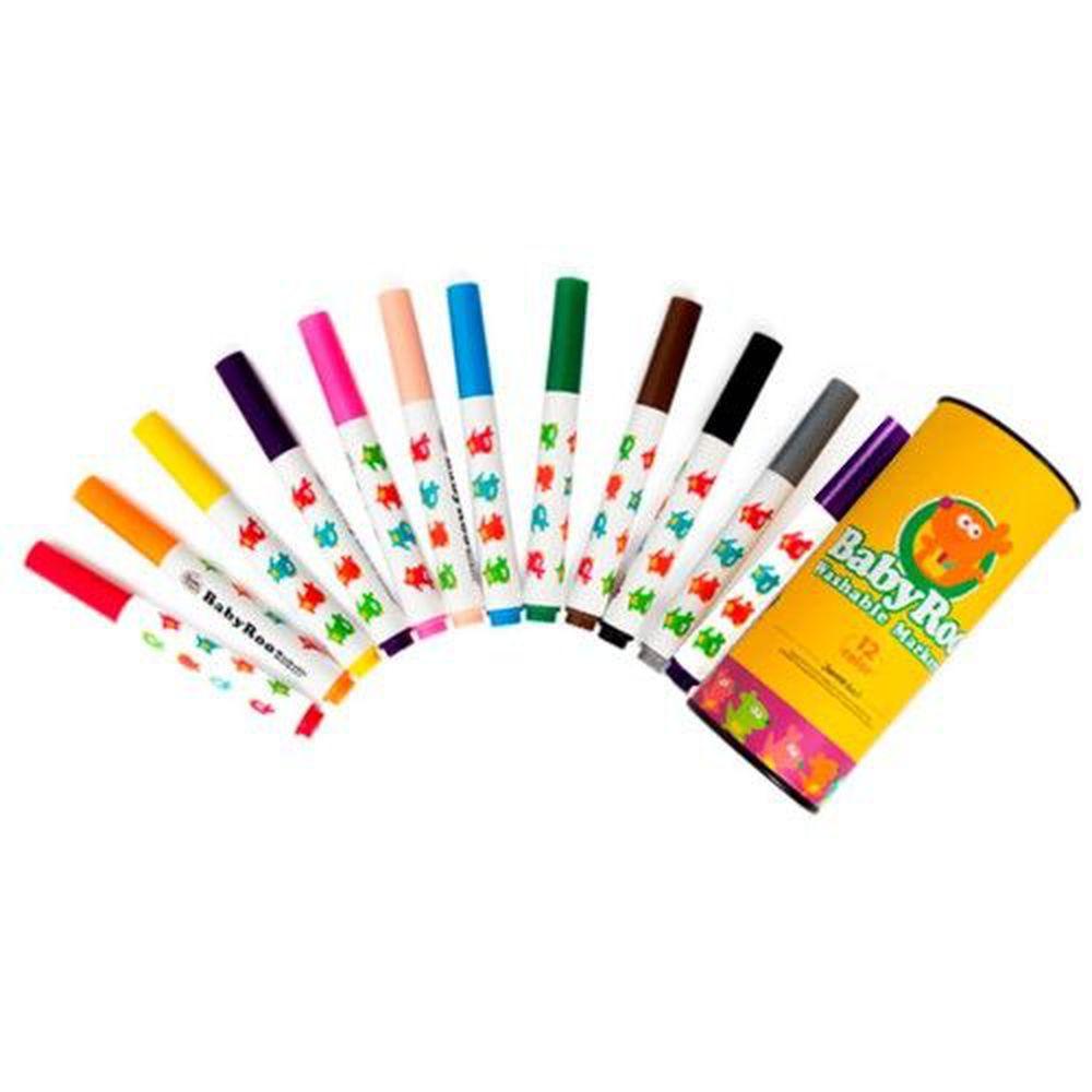 西班牙 JoanMiro - 兒童可水洗彩色筆-12色