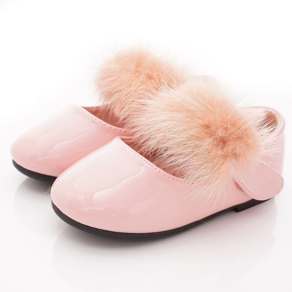 PV日式私藏 - 專櫃童鞋-氣質毛毛公主鞋款(寶寶段)-粉