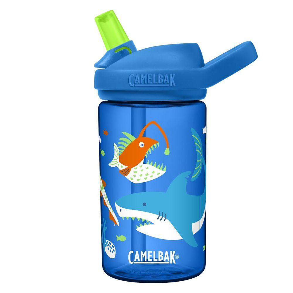 CamelBak - EDDY+ 兒童吸管運動水瓶-深海鯊魚 (400ml)-專案