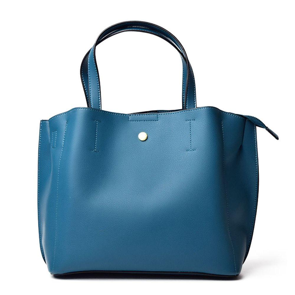 日本 Legato Largo - 輕量PU時尚大容量斜背肩背包-TBL土耳其藍 (21x32x13cm 肩背約88~122cm)