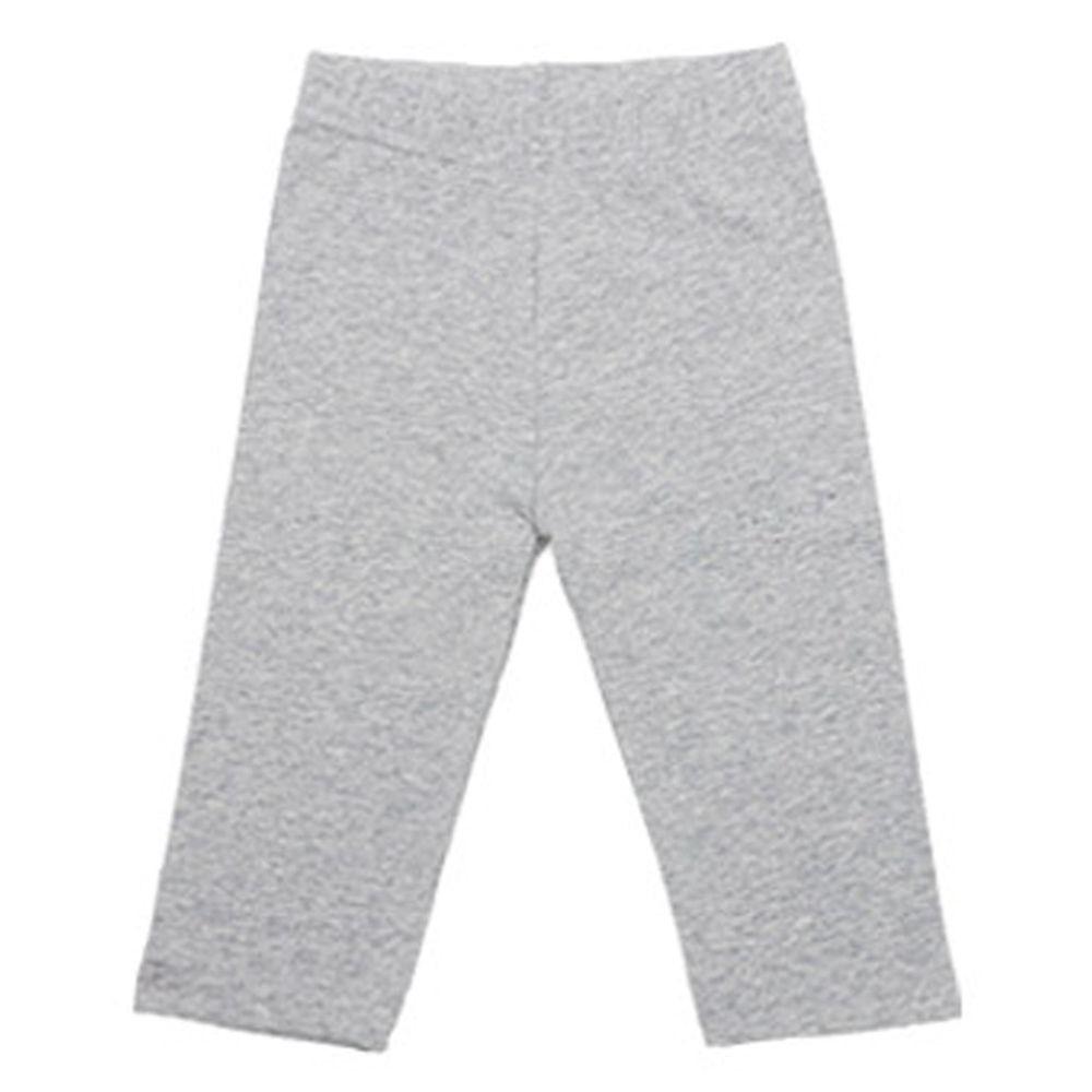 韓國 Rainbowkids - 40支純棉單色7分內搭褲-灰