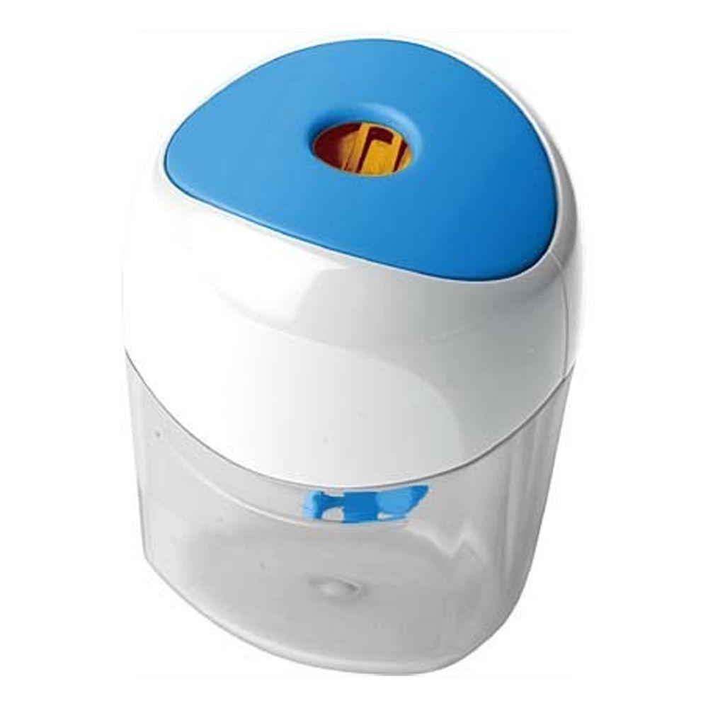 日本 SONIC - 左右交互免360度旋轉削鉛筆器-藍