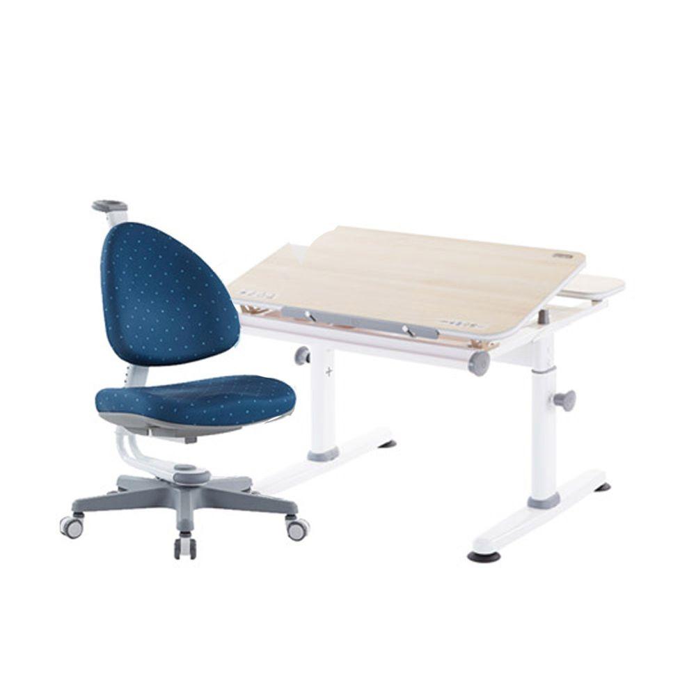 大將作 kid2youth - M2 Plus-XXS成長桌椅組(含BABO椅)/兒童書桌椅-深海藍 (桌面尺寸寬80x長70cm)
