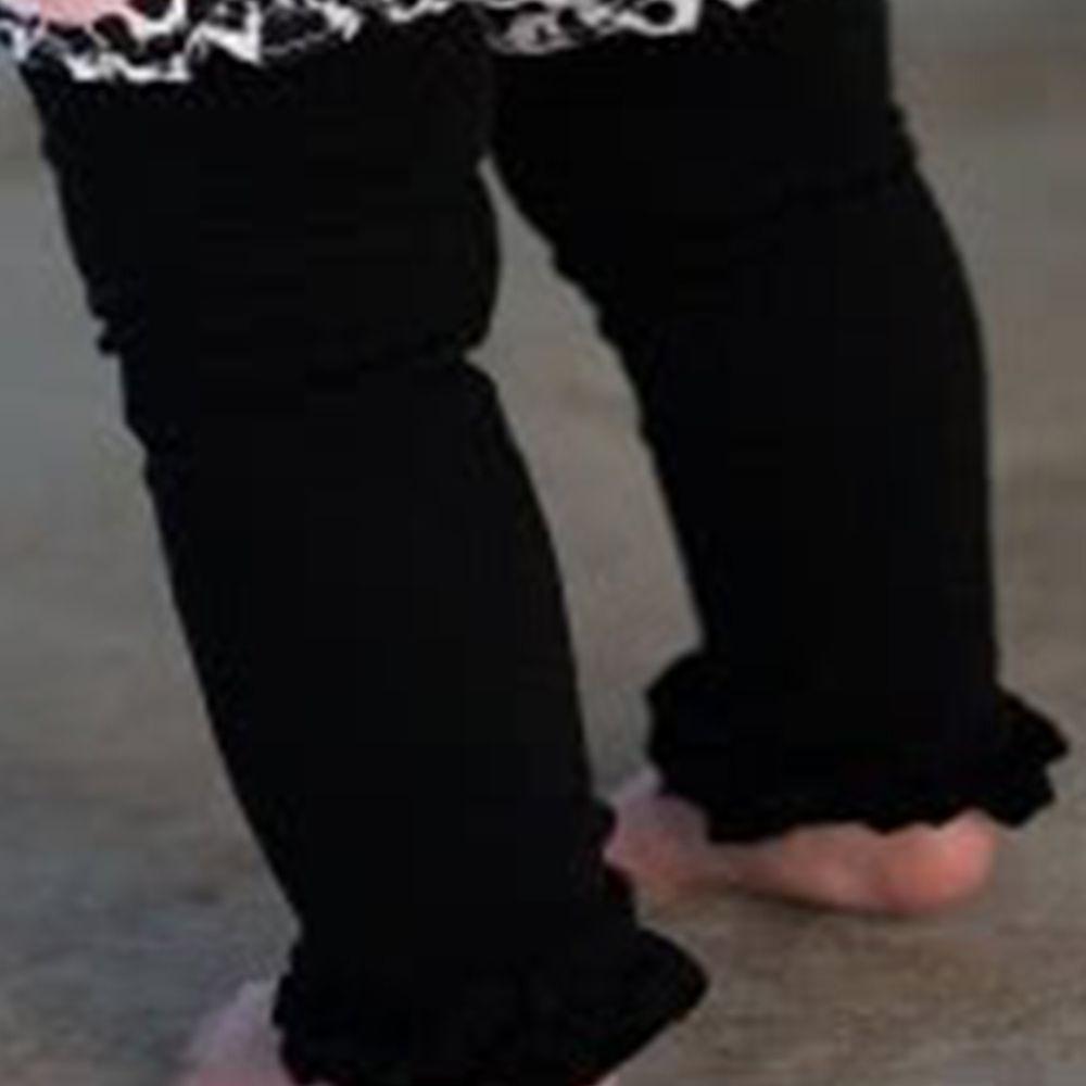 美國 RuffleButts - 小公主甜美荷葉邊內搭褲(襪)-經典黑