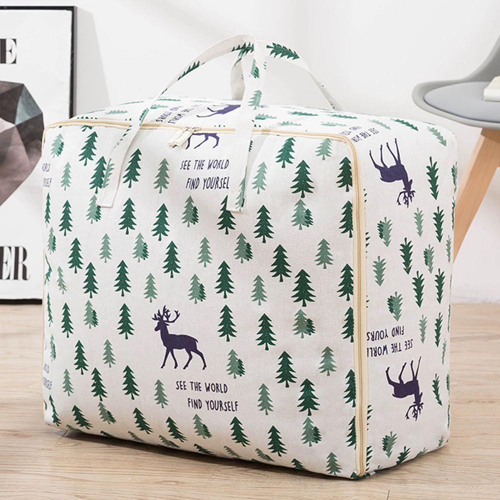 棉被收納提袋-麋鹿森林