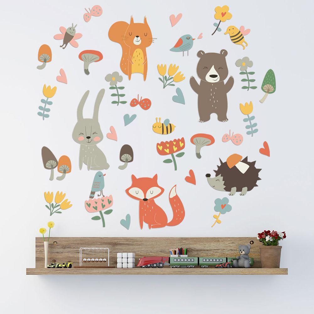 居家裝飾壁貼-Q版動物