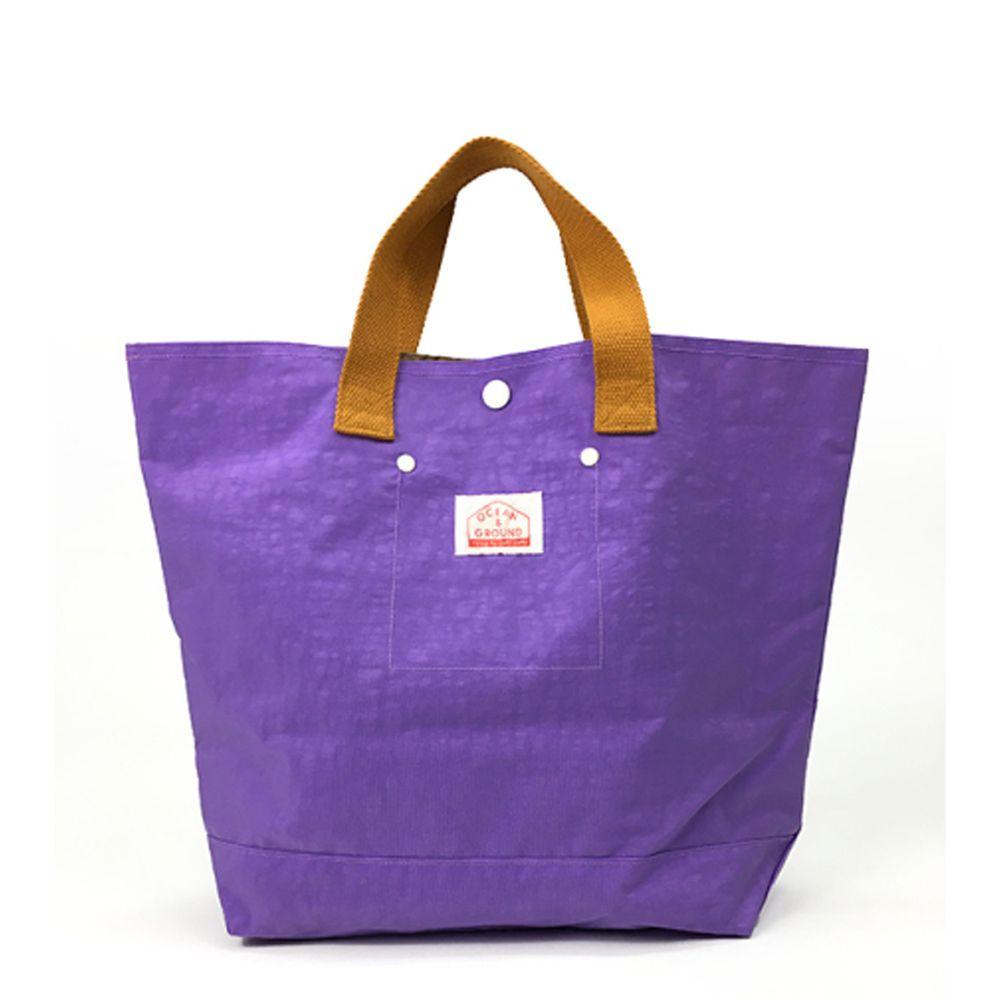 日本 OCEAN&GROUND - 經典休閒大容量手提袋-GOODAY 純色-薰衣草 LV (33x31x12cm)