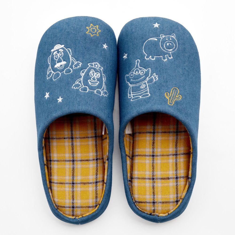 日本千趣會 - [現貨]迪士尼室內拖鞋(低反發)-玩具總動員-藍X黃格紋