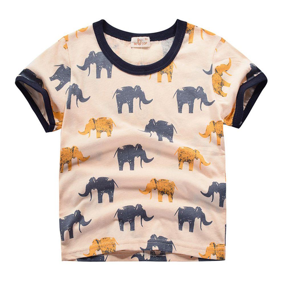 滿印大象純棉短袖上衣