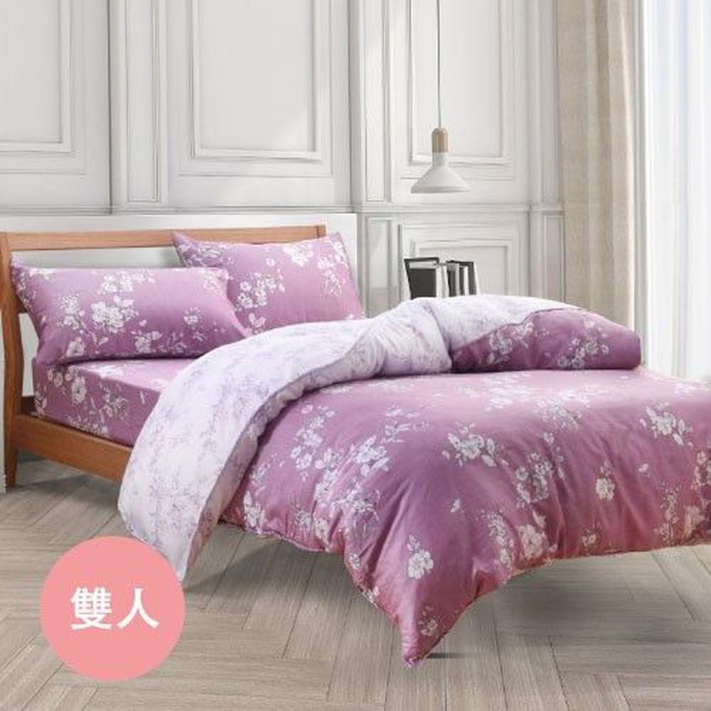 梵蒂尼 Famttini - 頂級純正天絲兩用被床包組-雙人-緋紅香語