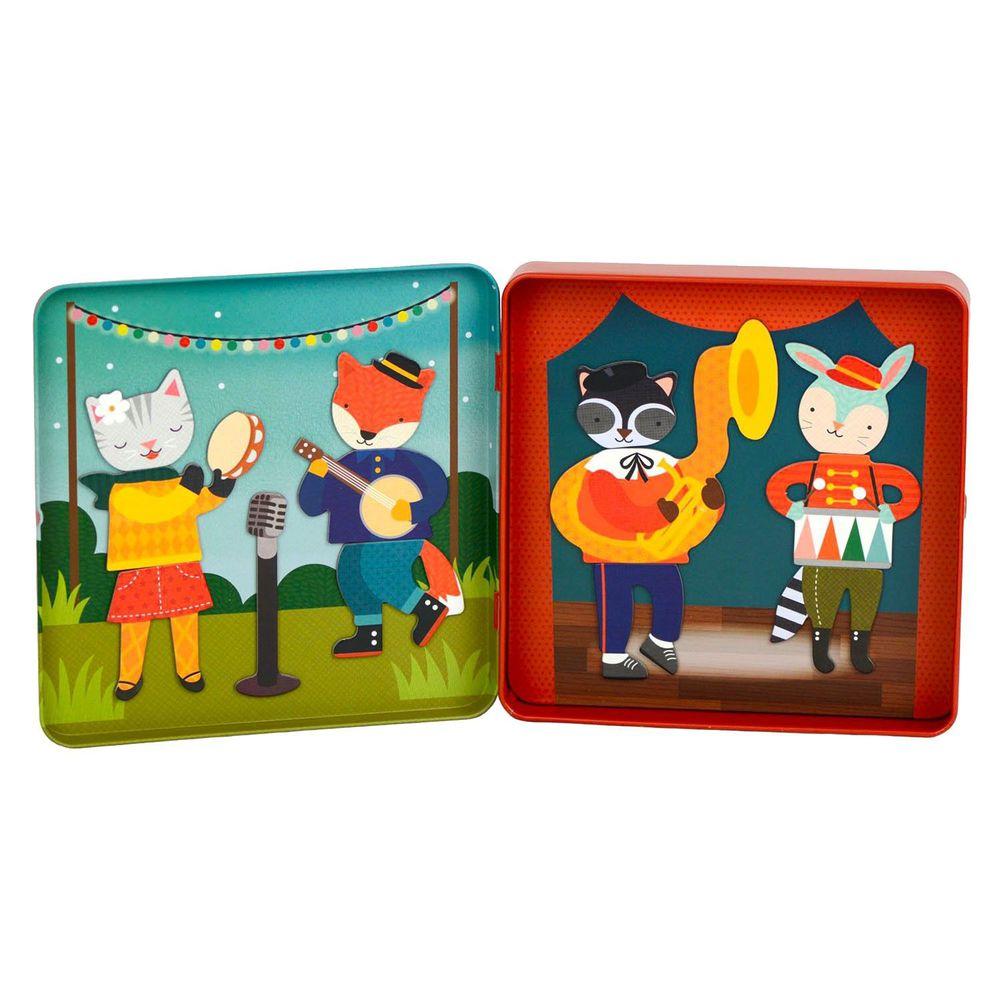 美國 Petit Collage - 磁鐵遊戲盒-動物樂團