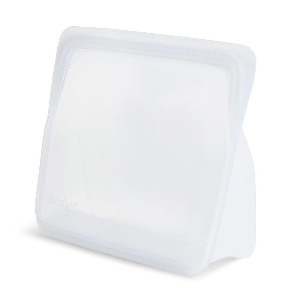 Stasher - 食品級白金矽膠密封食物袋-站站型-雲霧白 (1656ml)