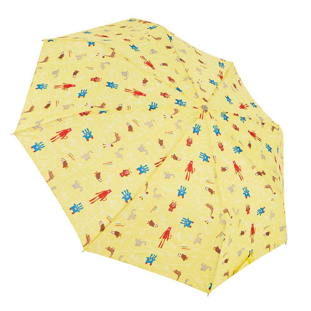 Rainstory - 抗UV個人加大自動傘-可愛怪獸