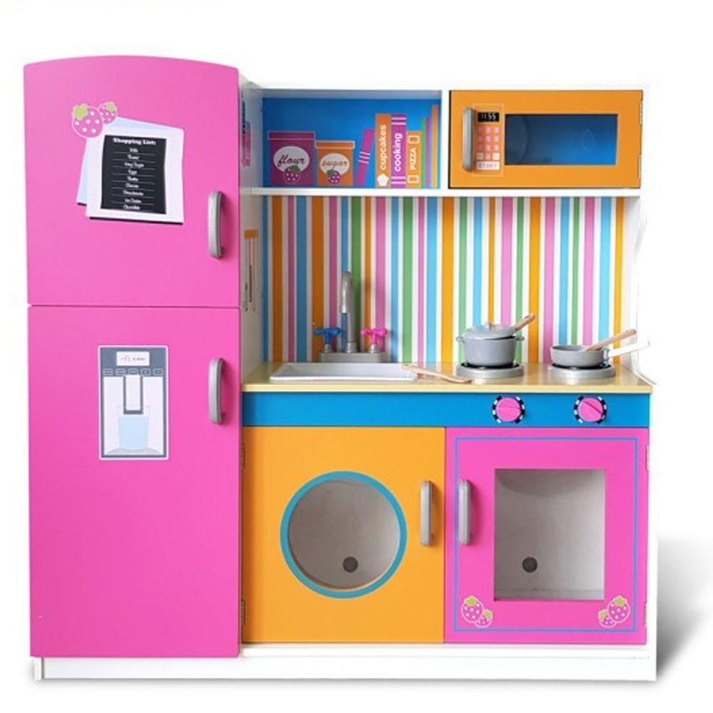 Kikimmy - 【新品】紐約午茶廚房玩具組-112.3x31x102cm