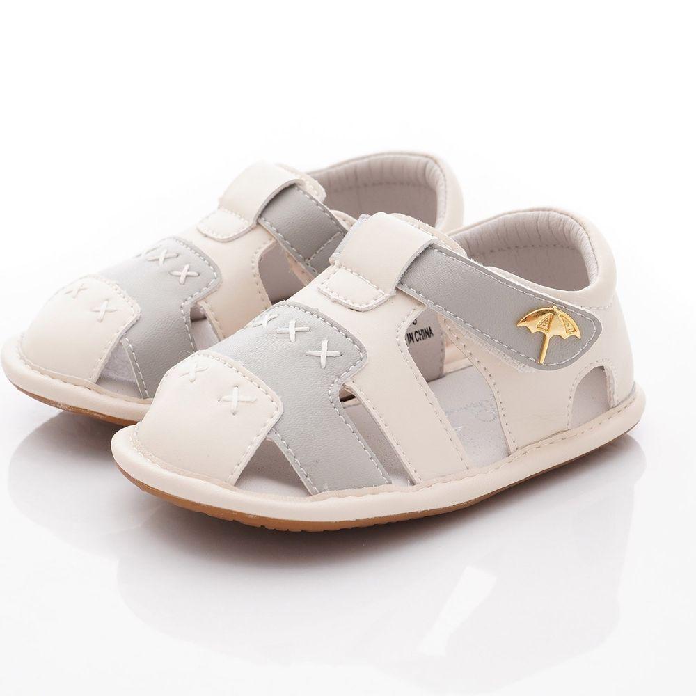 Arnold Palmer 雨傘牌 - 護趾軟軟學步涼鞋款(寶寶段)-灰