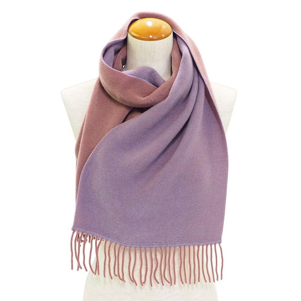 日本服飾代購 - 日本製 質感圍巾-雙色-粉X淺紫 (28x160cm)