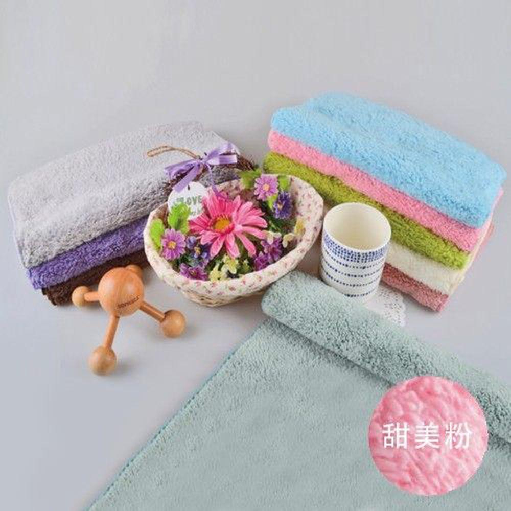 貝柔 Peilou - 超強十倍吸水超細纖維抗菌潔膚巾3入組合-甜美粉 (30x75cm)