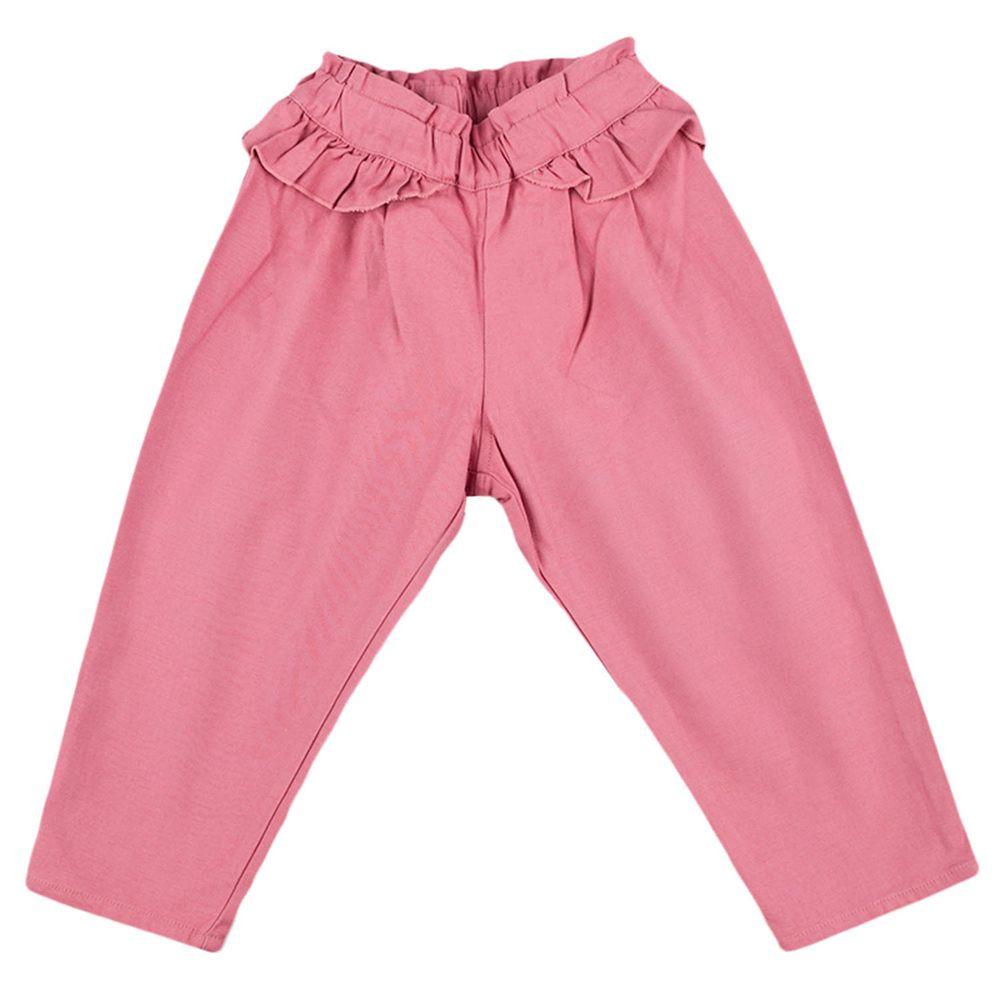 akachan honpo - 長褲-平織-粉紅色