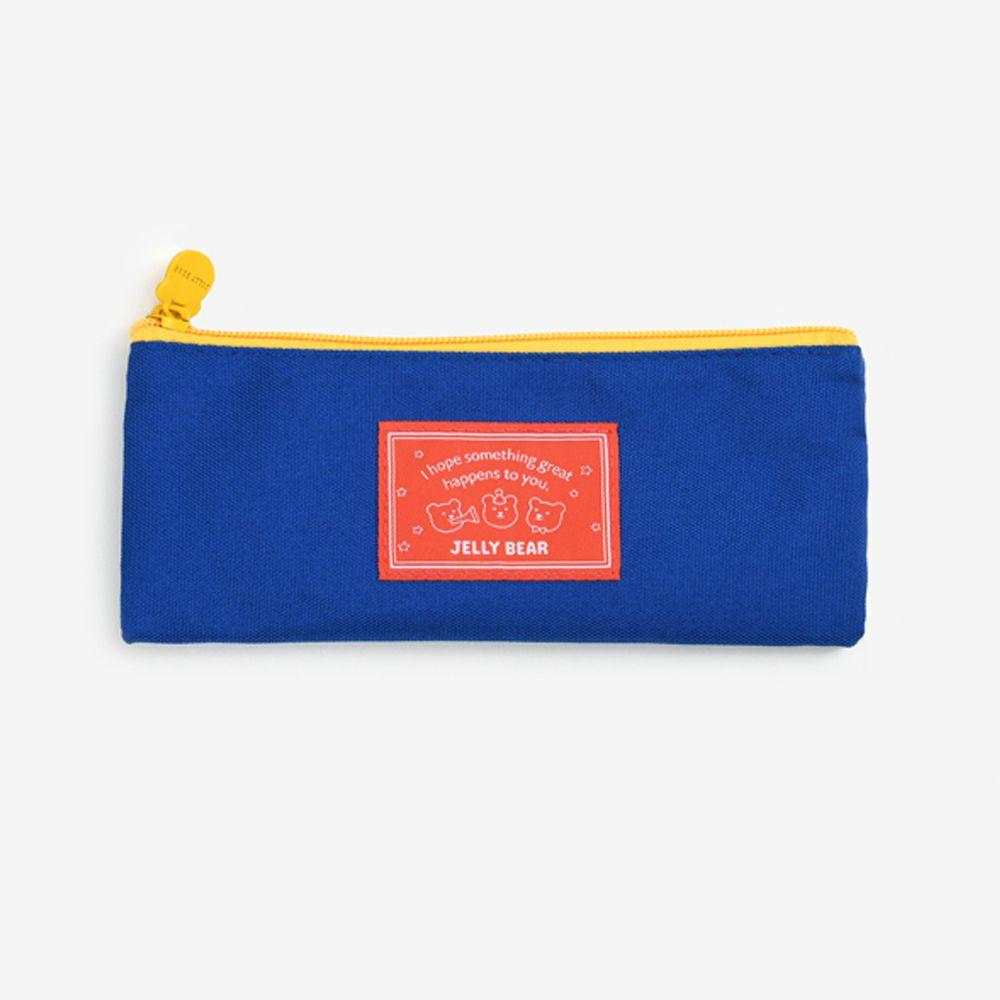 韓國 Daily Like - 牛津布鉛筆袋/餐具收納袋-藍 (20 x 8 cm)