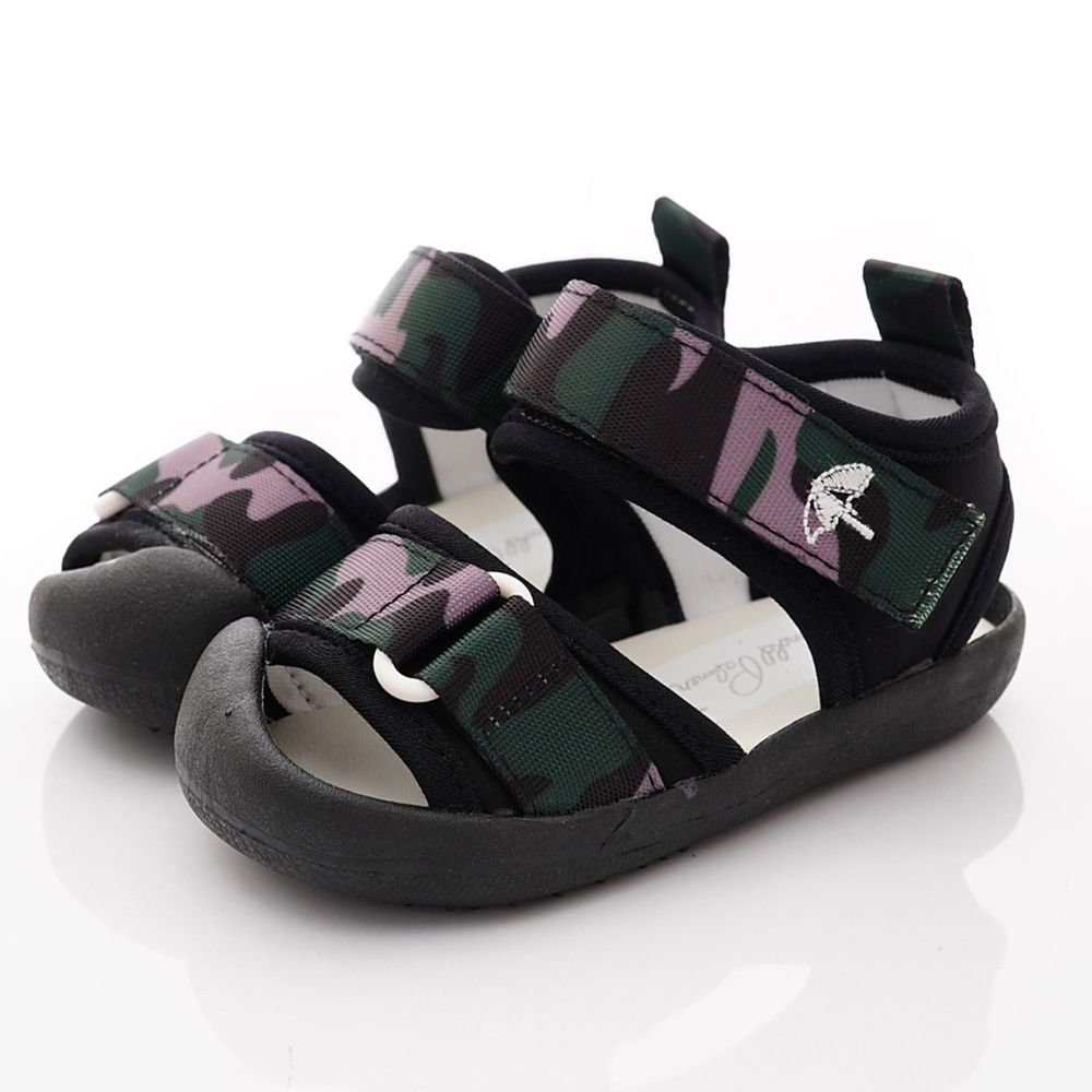 Arnold Palmer 雨傘牌 - 專櫃迷彩超輕涼鞋(寶寶段)-黑