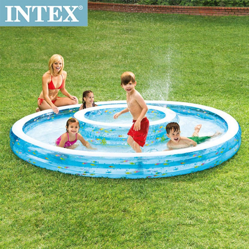 INTEX - 【限量促銷】同心圓戲水游泳池(1222L)