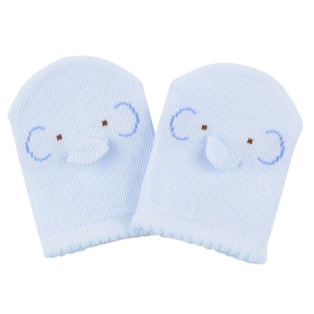 akachan honpo - 不易脫落手套-大象-淺藍色 (50cm)